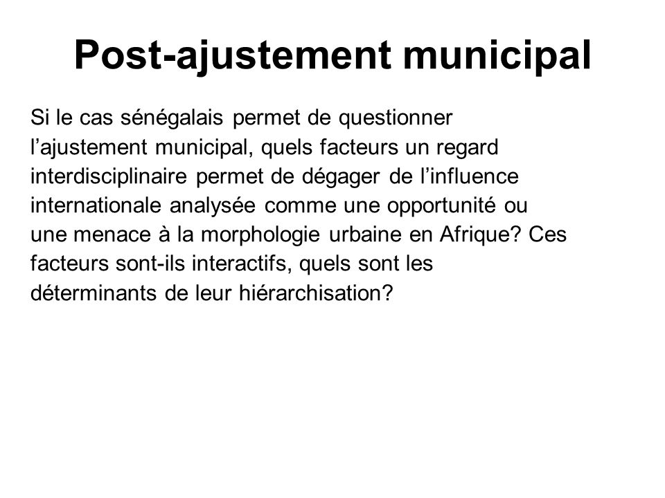 Post-ajustement municipal