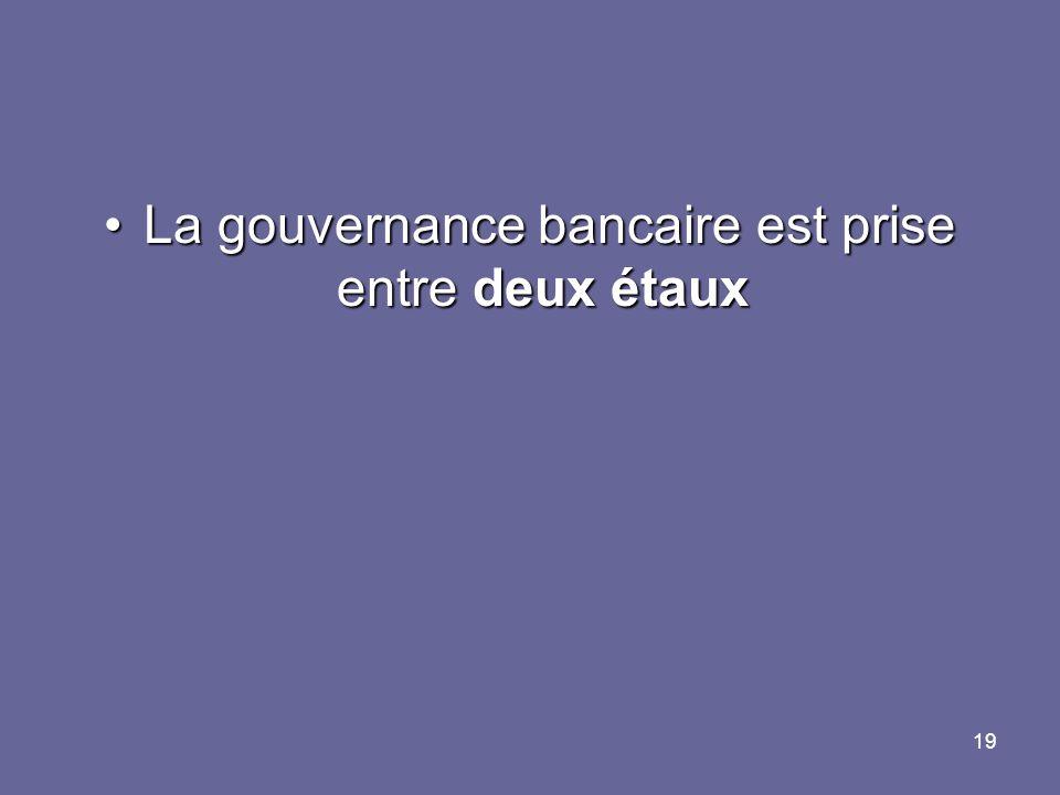 La gouvernance bancaire est prise entre deux étaux