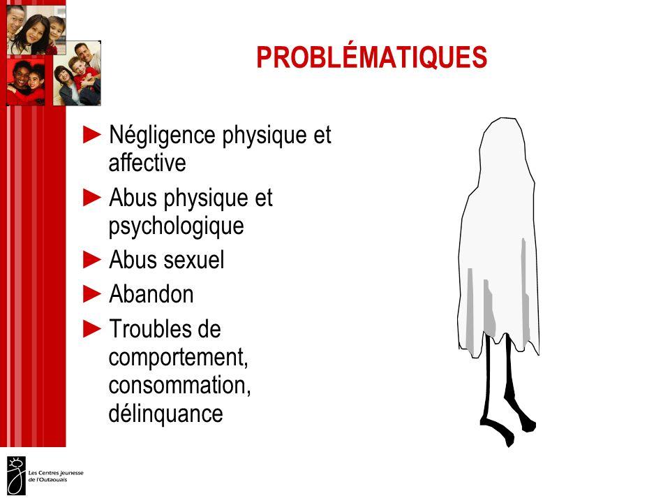 PROBLÉMATIQUES Négligence physique et affective