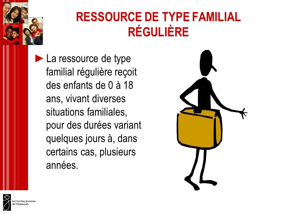 RESSOURCE DE TYPE FAMILIAL RÉGULIÈRE
