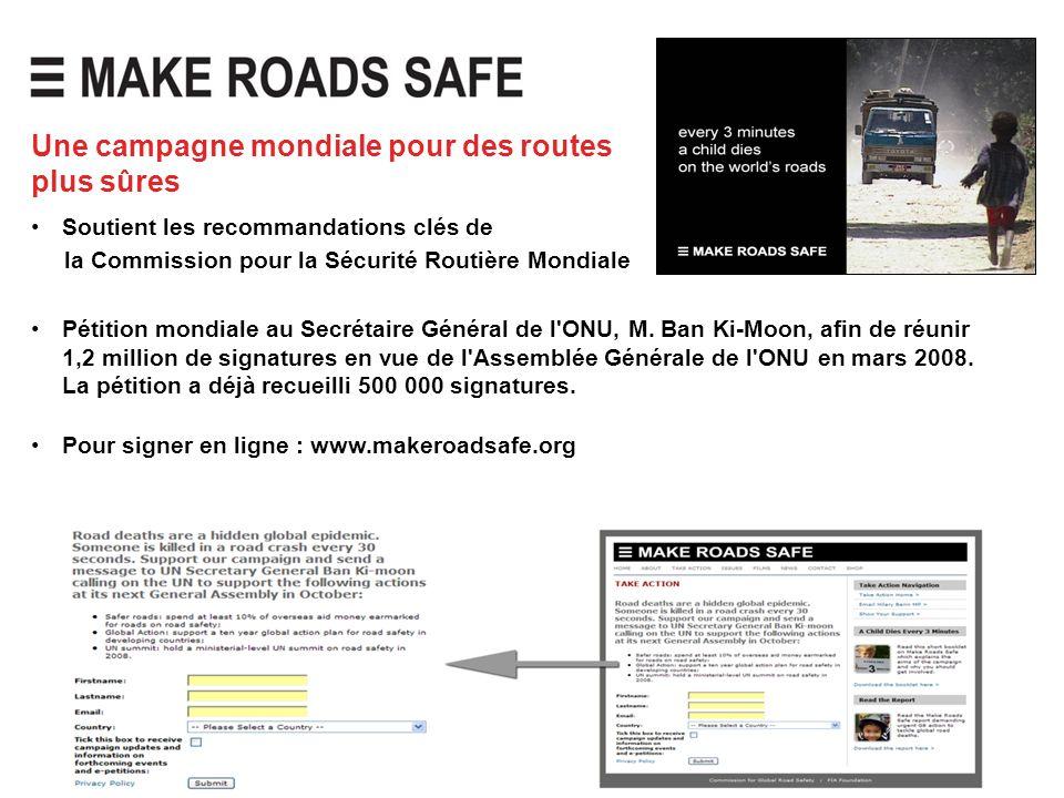 Une campagne mondiale pour des routes plus sûres