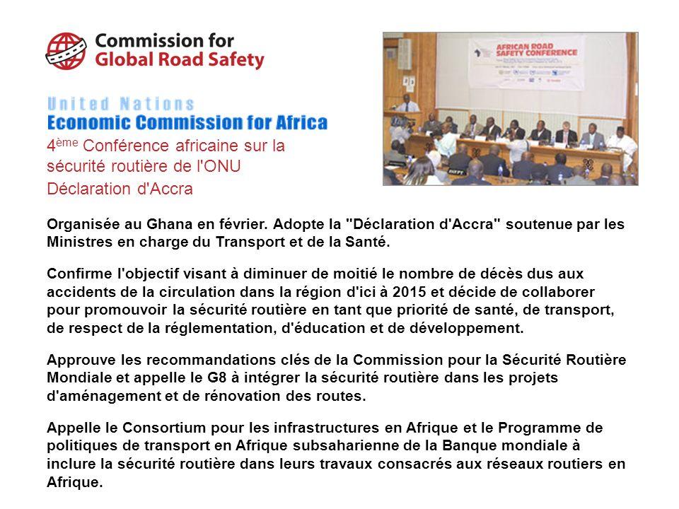 4ème Conférence africaine sur la sécurité routière de l ONU