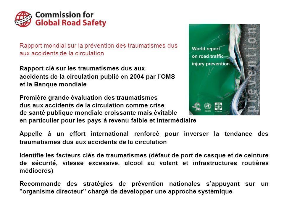 Rapport mondial sur la prévention des traumatismes dus