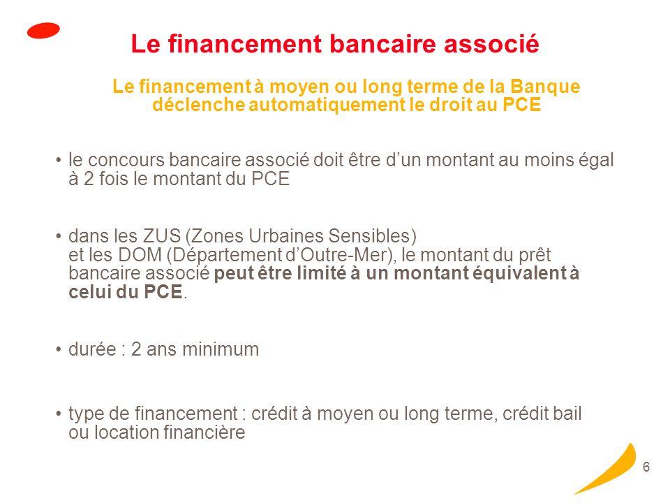 Le financement bancaire associé (Suite)