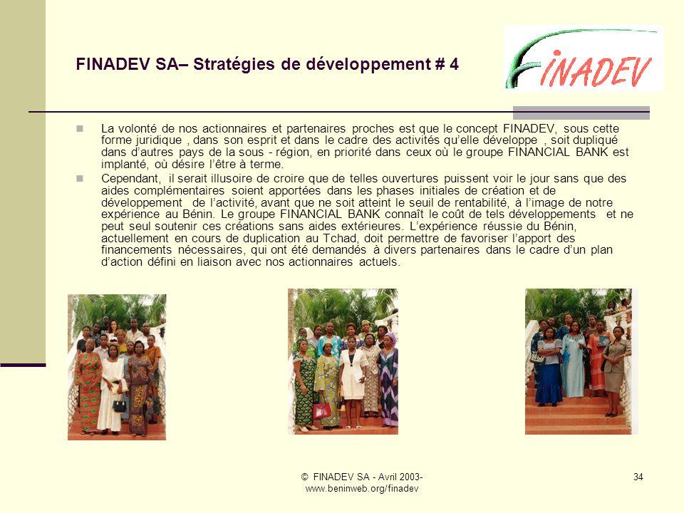 FINADEV SA– Stratégies de développement # 4