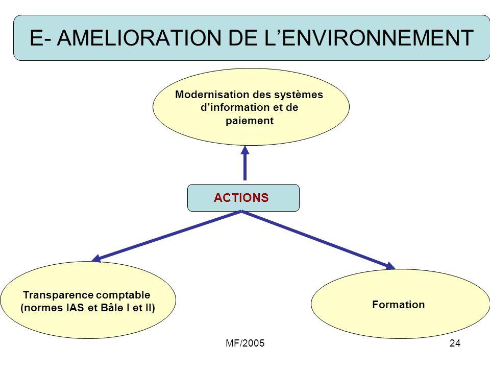 E- AMELIORATION DE L'ENVIRONNEMENT
