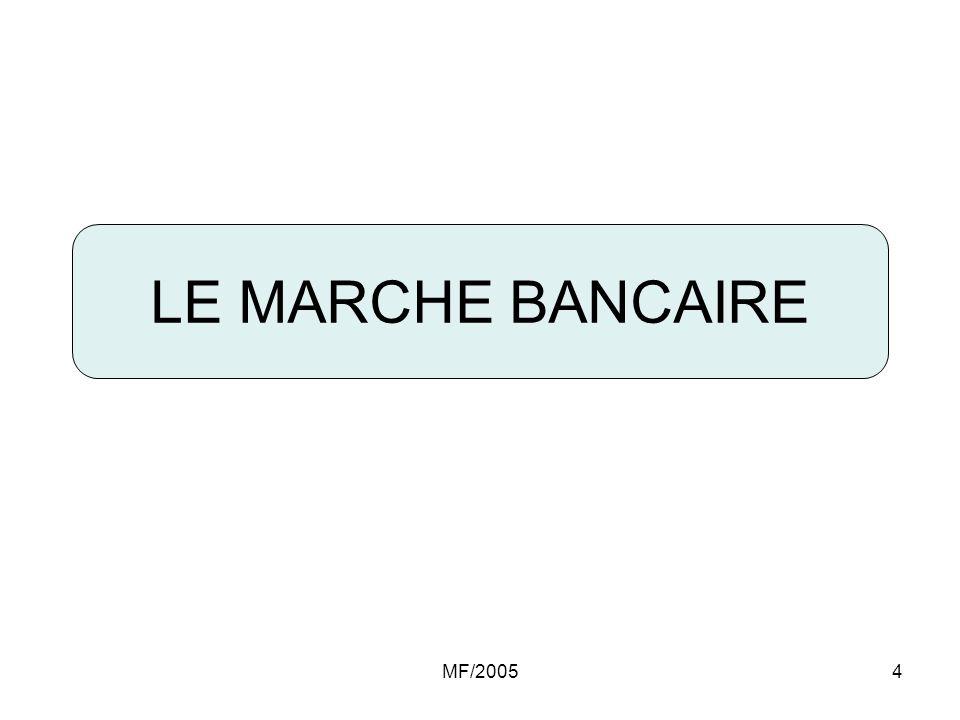 LE MARCHE BANCAIRE MF/2005