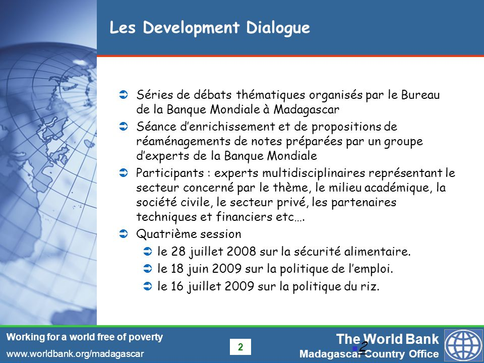 Les Development Dialogue