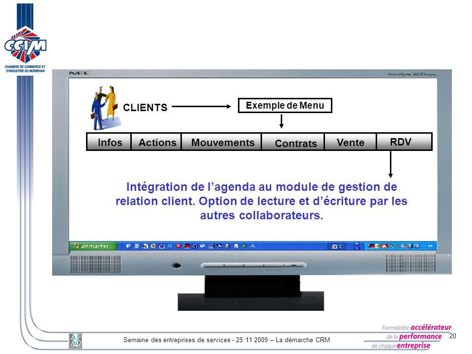 Semaine des entreprises de services - 25 11 2009 – La démarche CRM