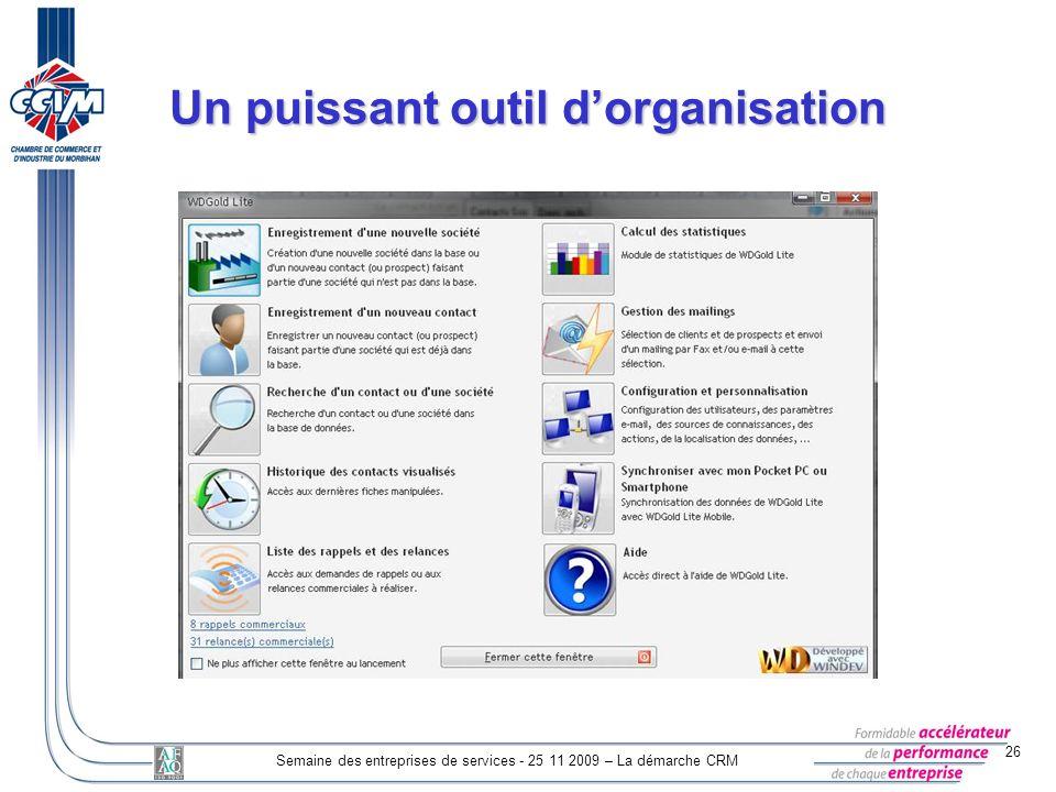 Un puissant outil d'organisation