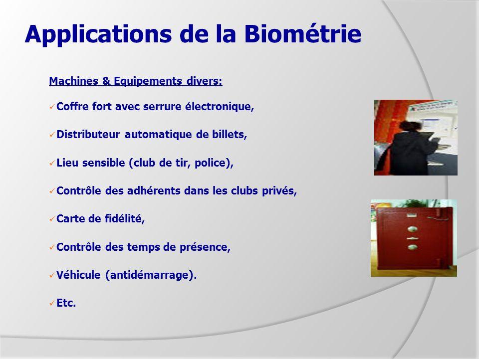 Applications de la Biométrie
