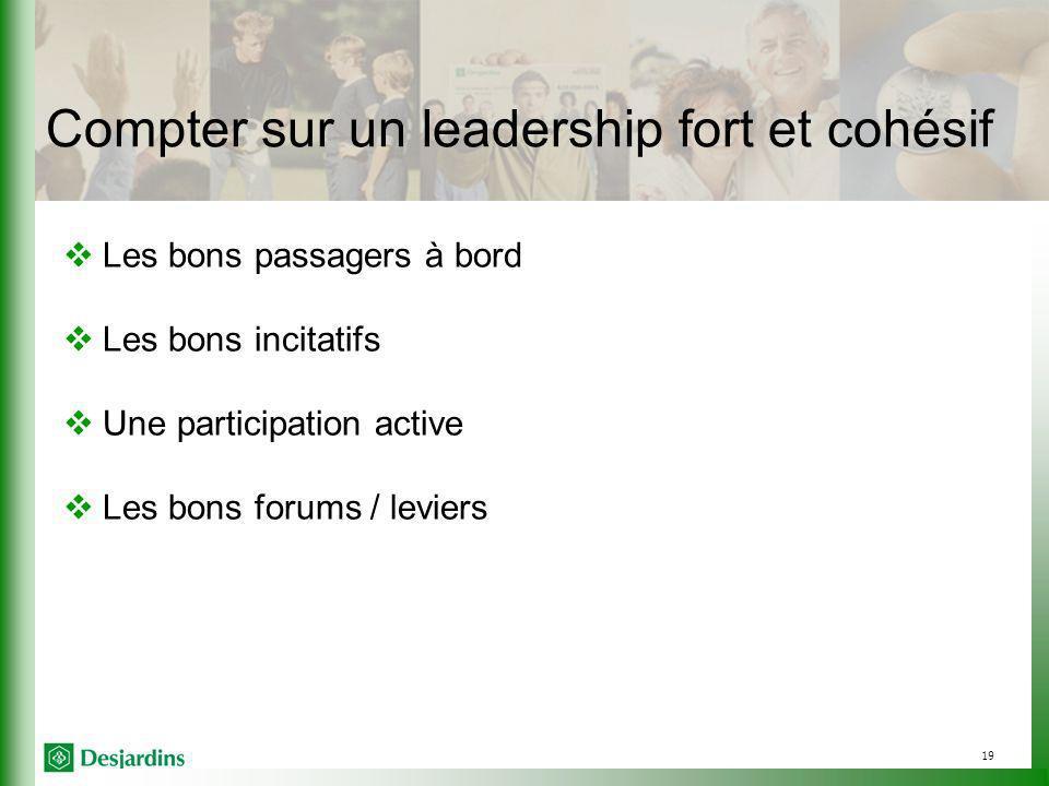 Compter sur un leadership fort et cohésif