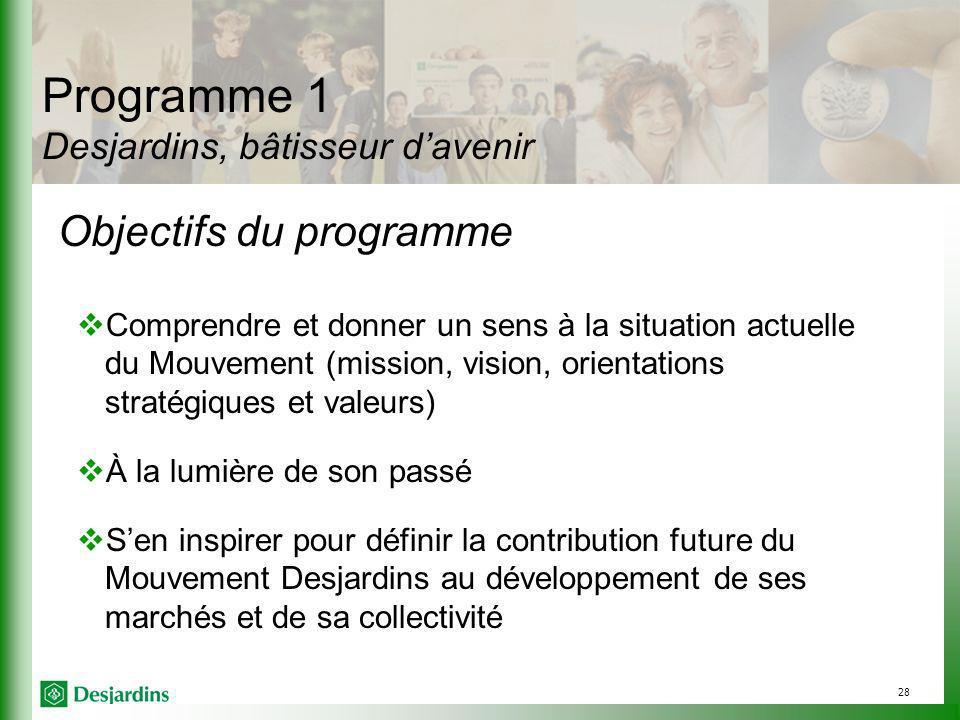 Programme 1 Desjardins, bâtisseur d'avenir