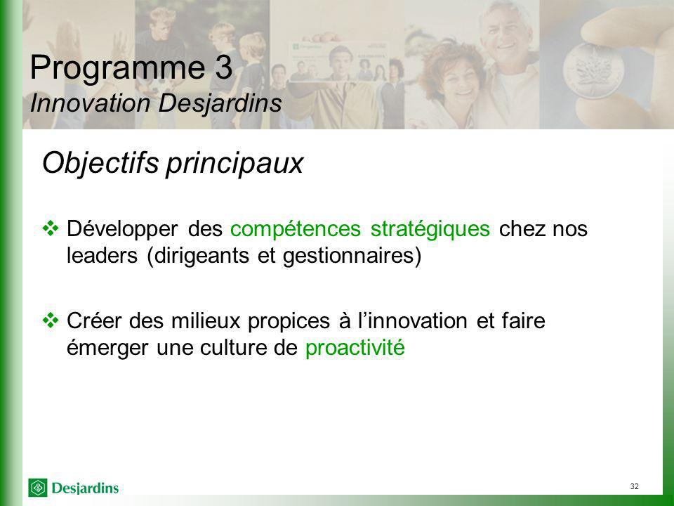 Programme 3 Innovation Desjardins