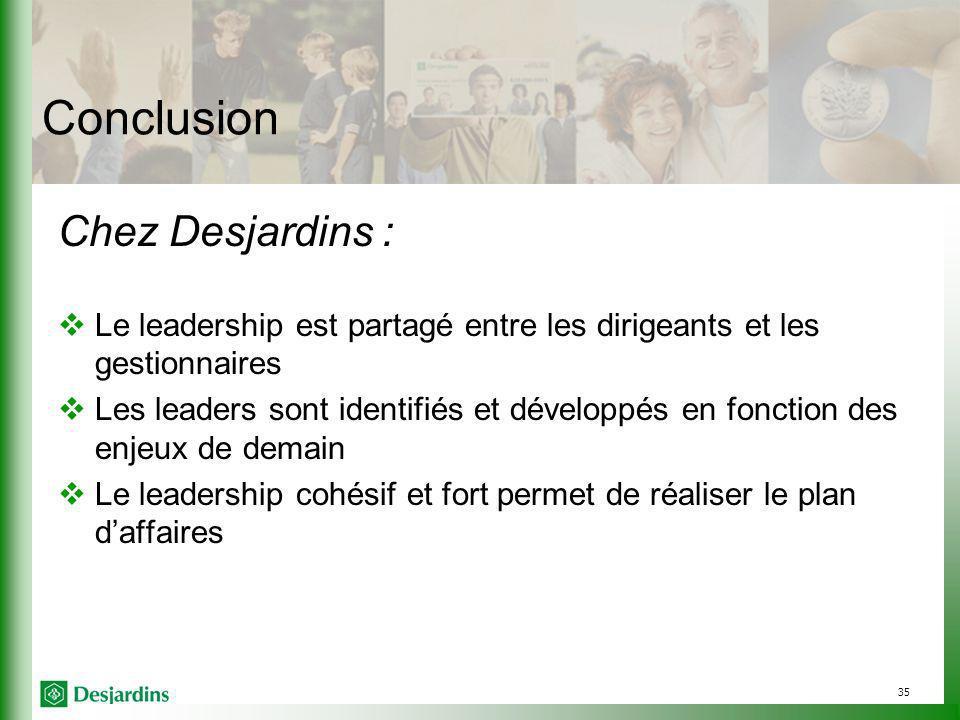 Conclusion Chez Desjardins :