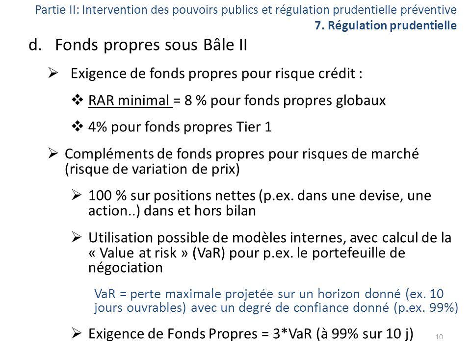 Fonds propres sous Bâle II