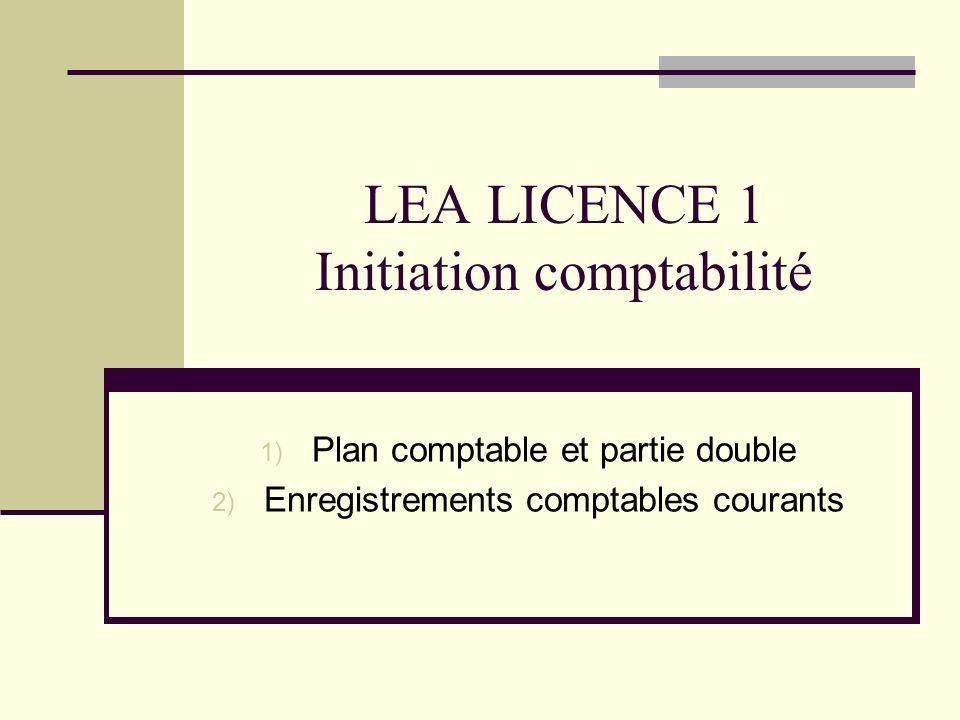 LEA LICENCE 1 Initiation comptabilité