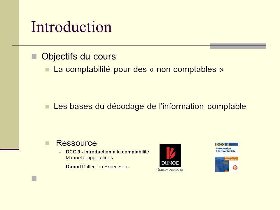 Introduction Objectifs du cours