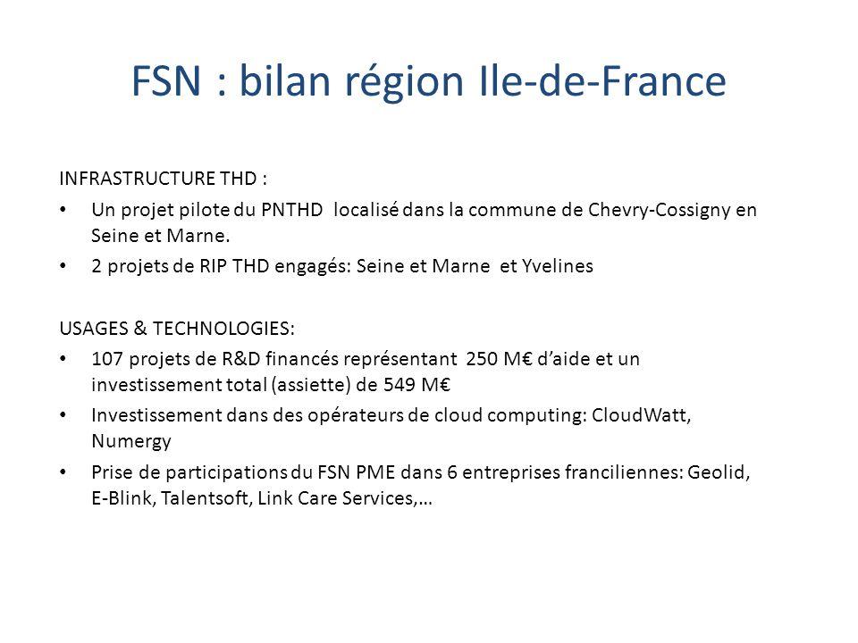 FSN : bilan région Ile-de-France