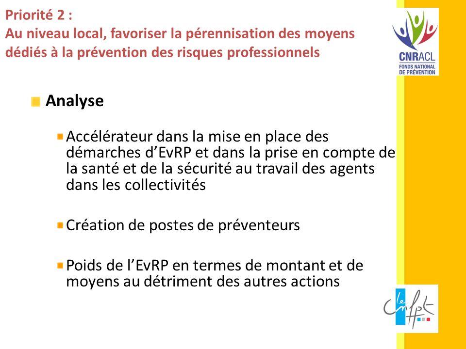 Priorité 2 : Au niveau local, favoriser la pérennisation des moyens dédiés à la prévention des risques professionnels