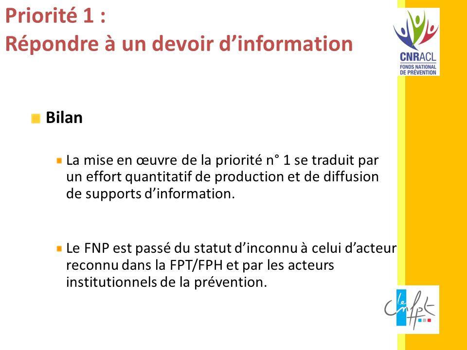 Priorité 1 : Répondre à un devoir d'information