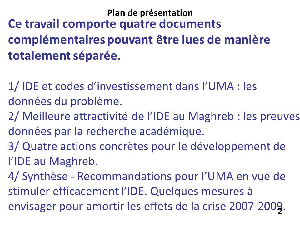 Plan de présentationCe travail comporte quatre documents complémentaires pouvant être lues de manière totalement séparée.