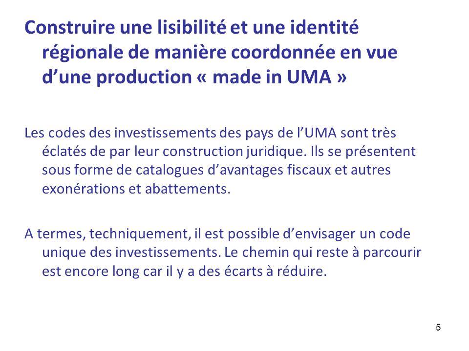 Construire une lisibilité et une identité régionale de manière coordonnée en vue d'une production « made in UMA »