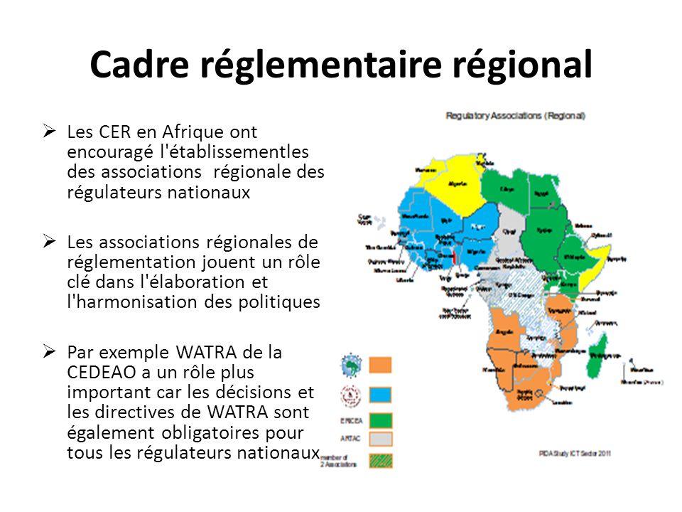 Cadre réglementaire régional
