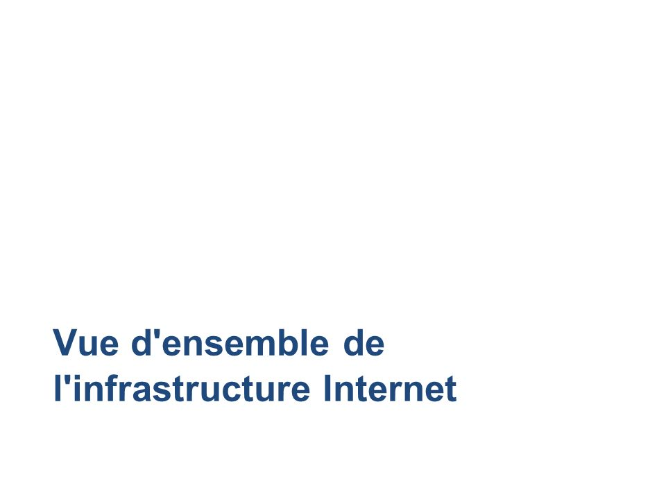 Vue d ensemble de l infrastructure Internet