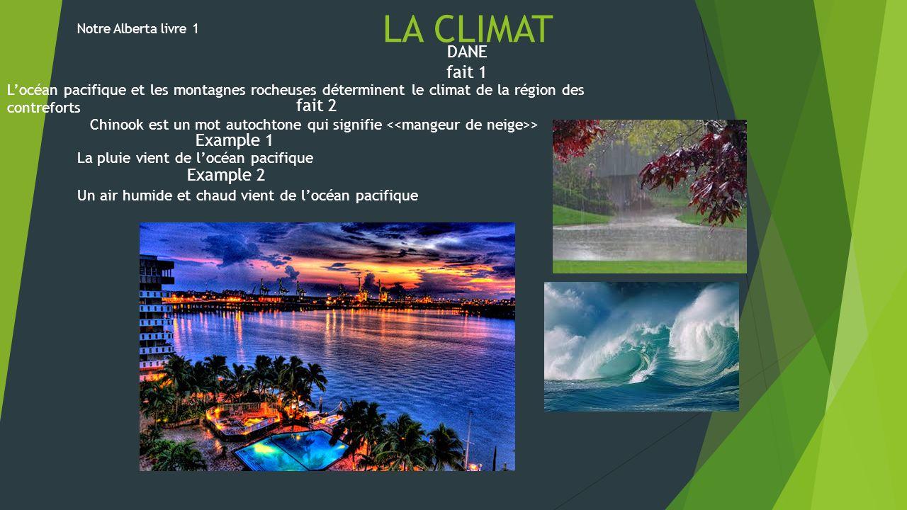 La climat LA CLIMAT DANE fait 1 fait 2 Example 1 Example 2