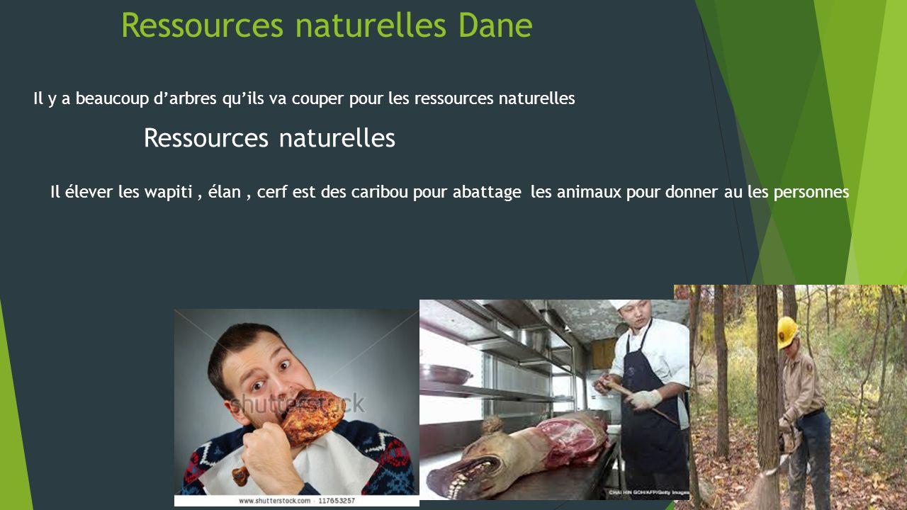 Ressources naturelles Dane