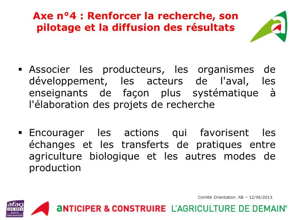 Axe n°4 : Renforcer la recherche, son pilotage et la diffusion des résultats