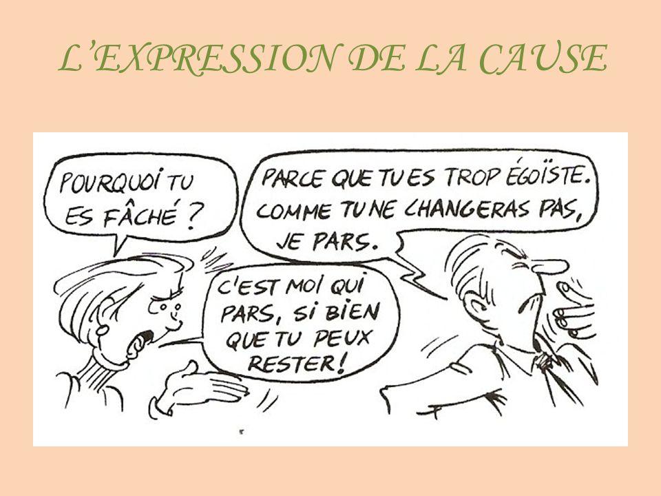 L'EXPRESSION DE LA CAUSE