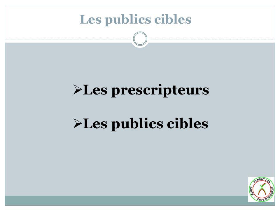 Les publics cibles Les prescripteurs Les publics cibles
