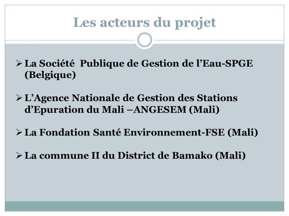 Les acteurs du projetLa Société Publique de Gestion de l'Eau-SPGE (Belgique)