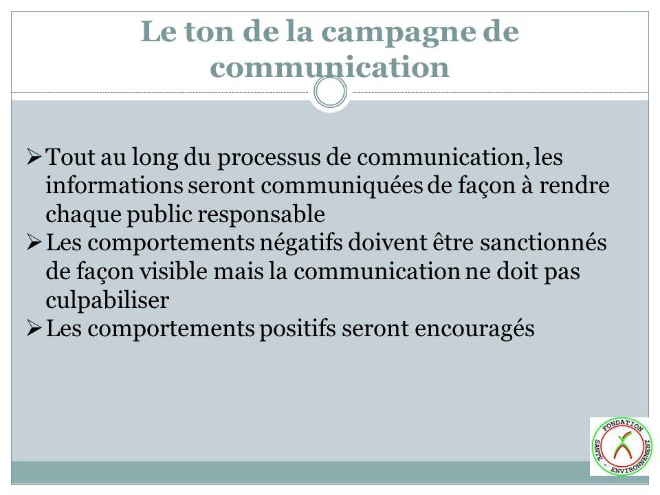 Le ton de la campagne de communication