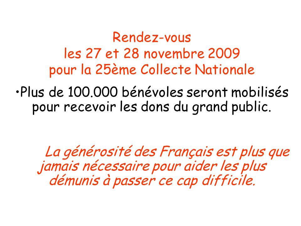 Rendez-vous les 27 et 28 novembre 2009 pour la 25ème Collecte Nationale