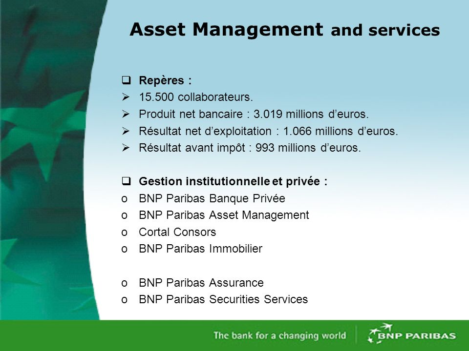 Asset Management and services