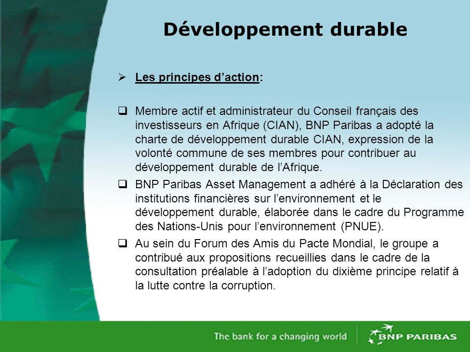 Développement durable