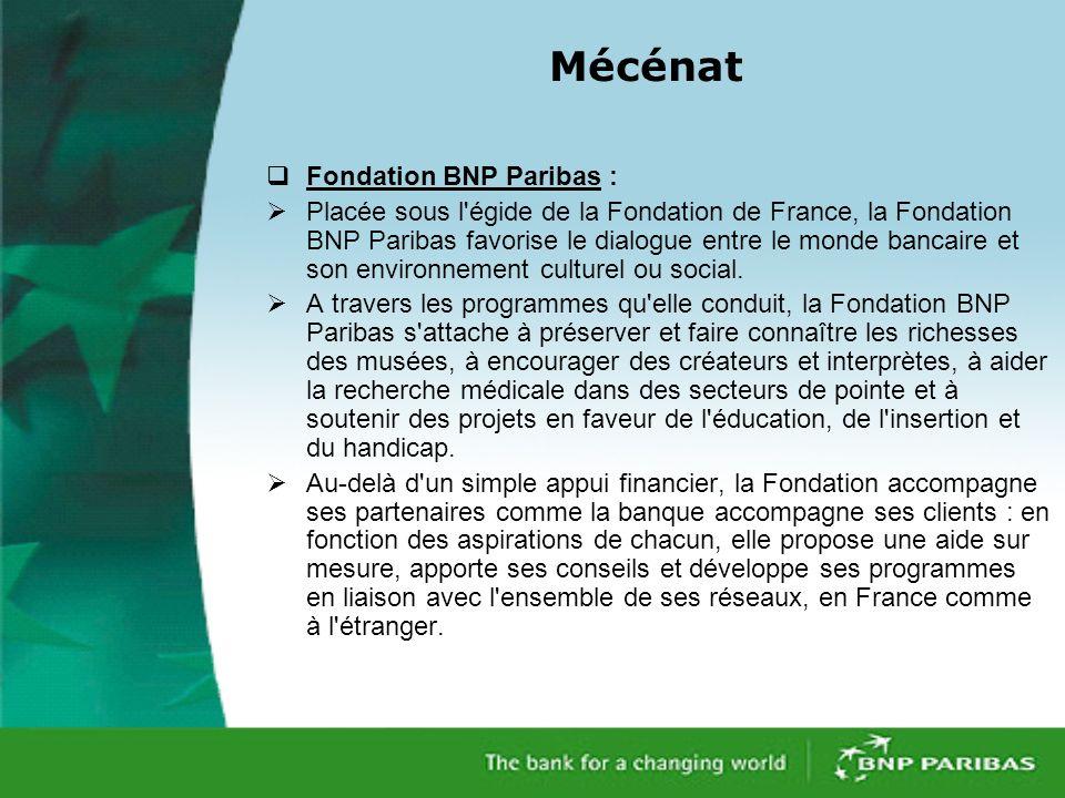 Mécénat Fondation BNP Paribas :