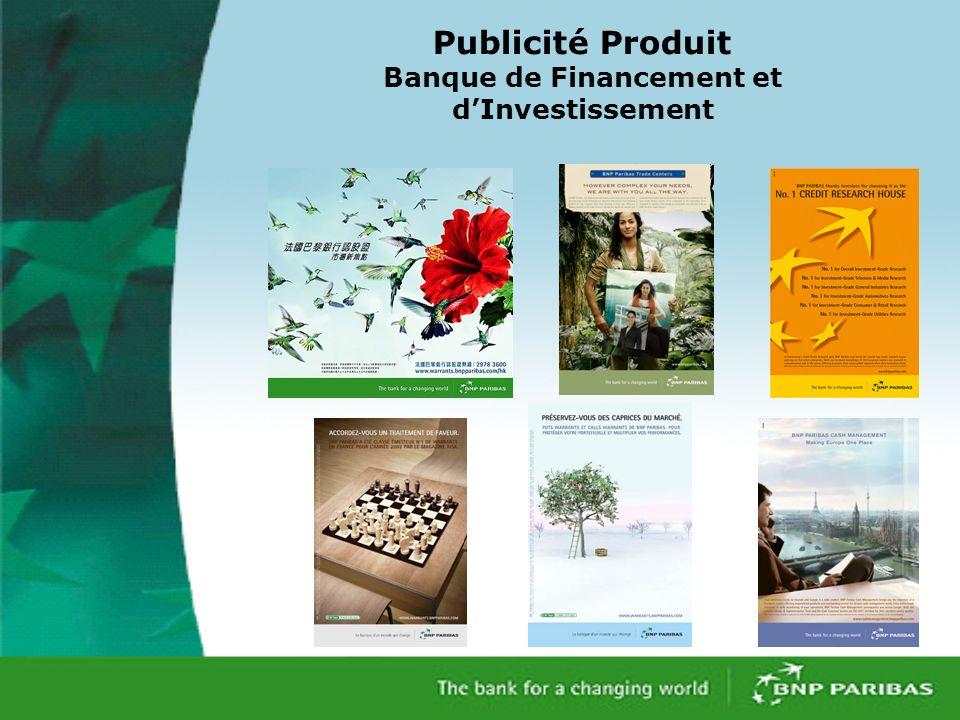 Publicité Produit Banque de Financement et d'Investissement