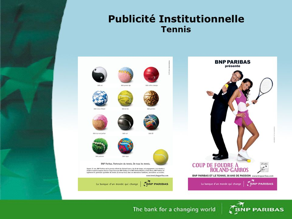 Publicité Institutionnelle Tennis
