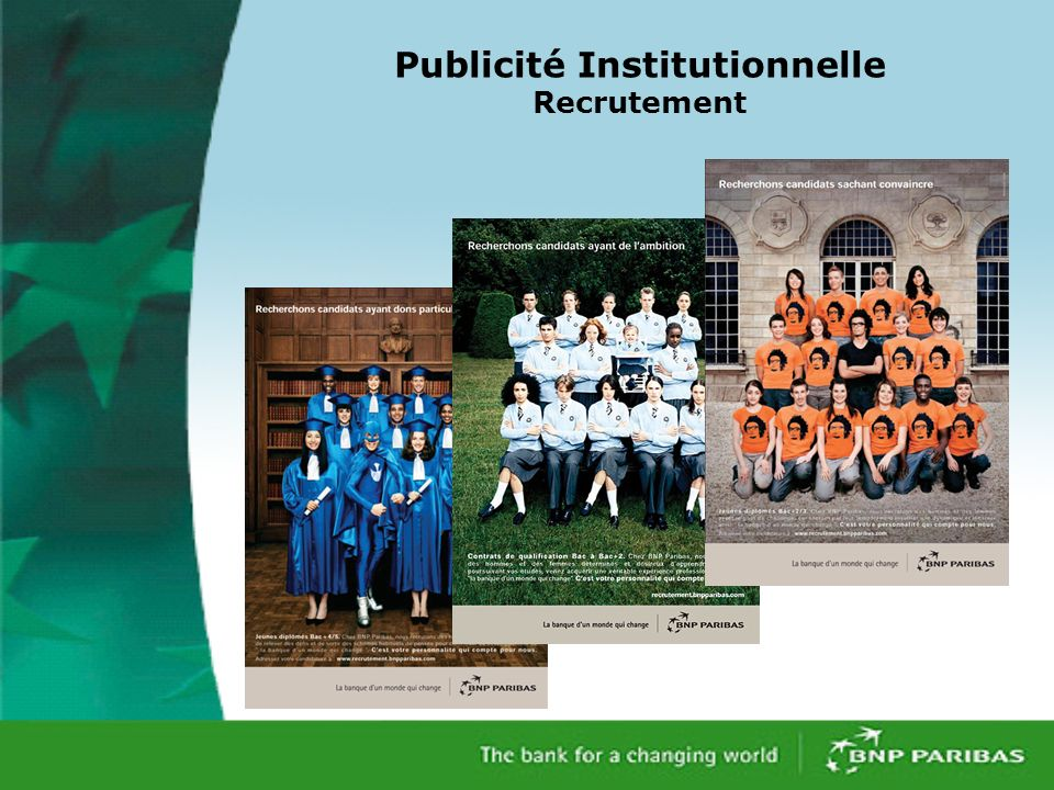 Publicité Institutionnelle Recrutement