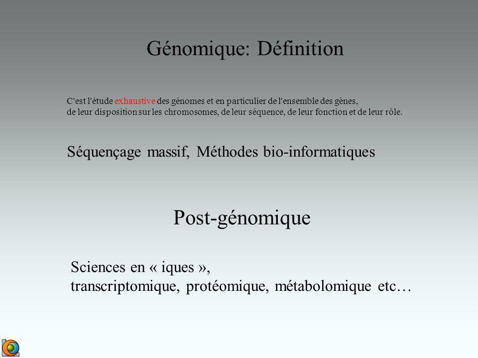 Génomique: Définition