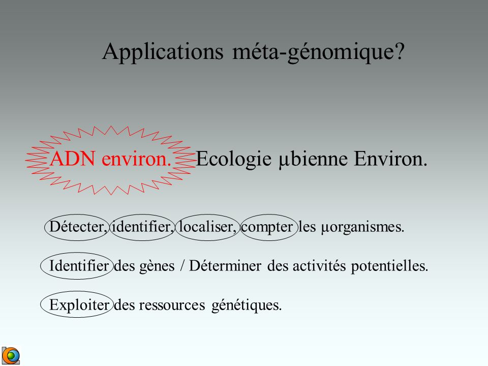 Applications méta-génomique