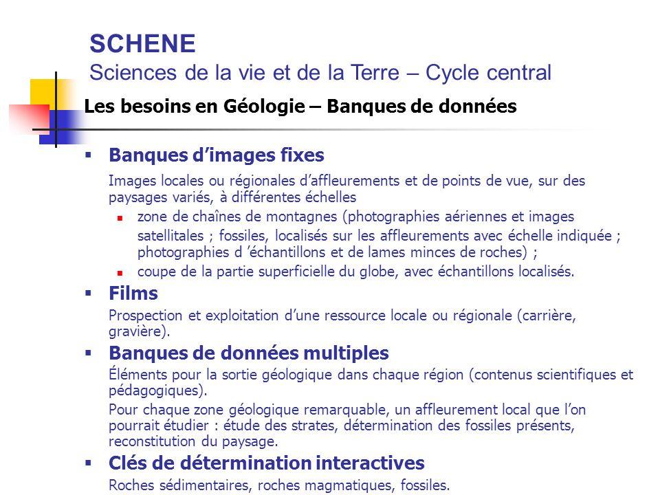 SCHENE Sciences de la vie et de la Terre – Cycle central