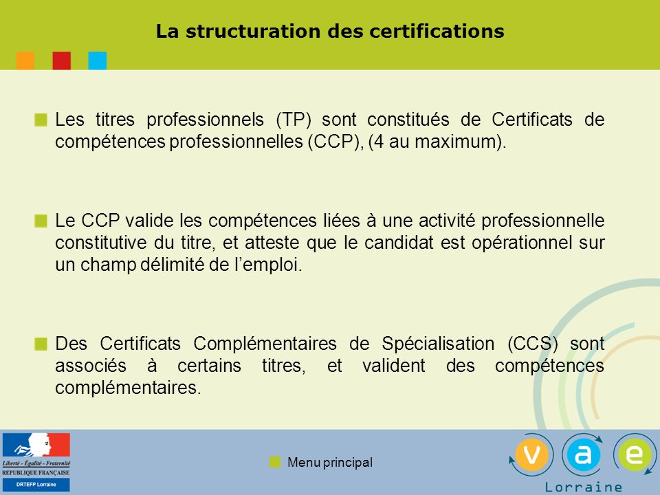 La structuration des certifications