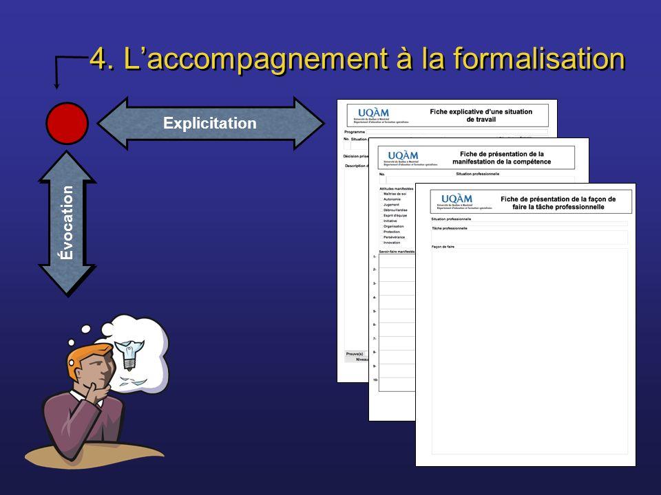 4. L'accompagnement à la formalisation