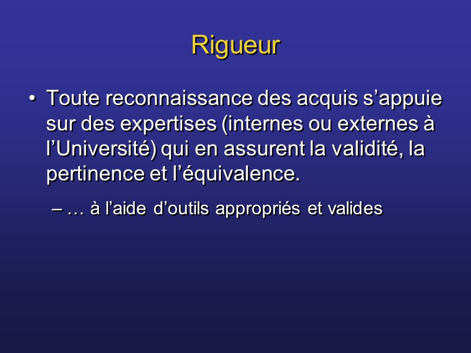 Rigueur