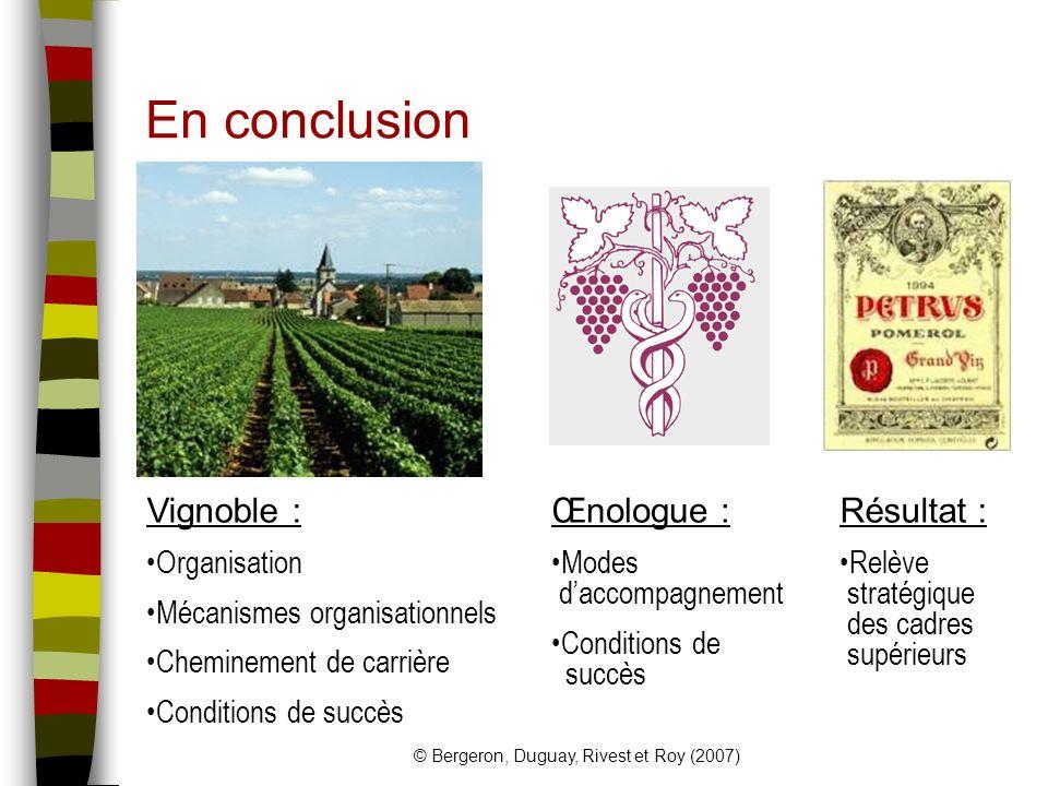 © Bergeron, Duguay, Rivest et Roy (2007)